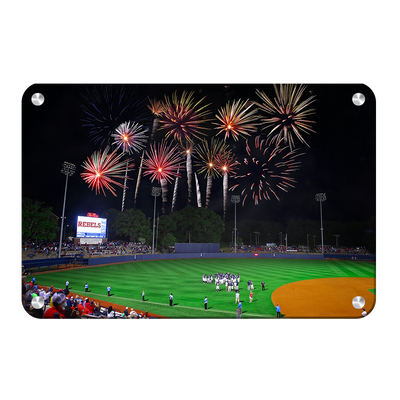 Ole Miss Rebels - More Fireworks Over Swayze - College Wall Art #Metal