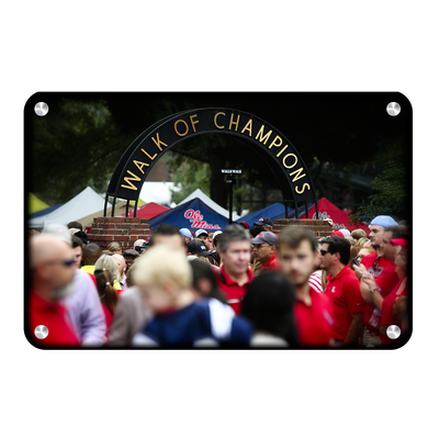 Ole Miss Rebels - Walk of Champions Grove - College Wall Art #Metal