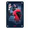 Ole Miss Rebels - Landshark State - College Wall Art #Metal