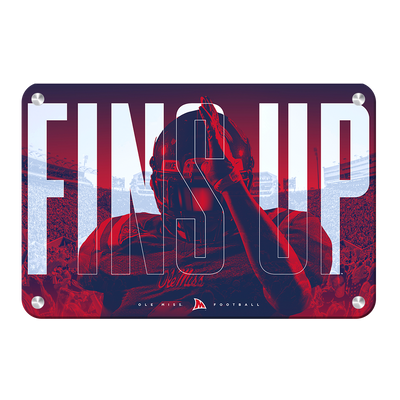 Ole Miss Rebels - Fins Up Ole Miss Football - College Wall Art #Metal