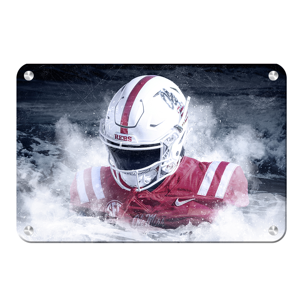 Ole Miss Rebels - Blood In The Water - College Wall Art #Canvas