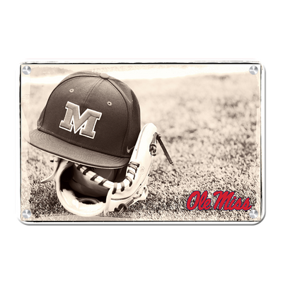 Ole Miss Rebels - Ole Miss Vintage Baseball #Metal