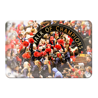 Ole Miss Rebels - Walk of Champions Cheer - College Wall Art #Metal