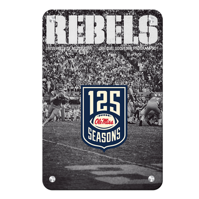 Ole Miss Rebels - REBELS 125 Years - College Wall Art #Metal