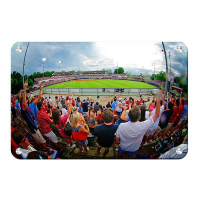 Ole Miss Rebels - Fisheye View of Swayze - College Wall Art #Metal