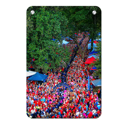 Ole Miss Rebels - Walk Of Champions from new Student Union - College Wall Art #Metal