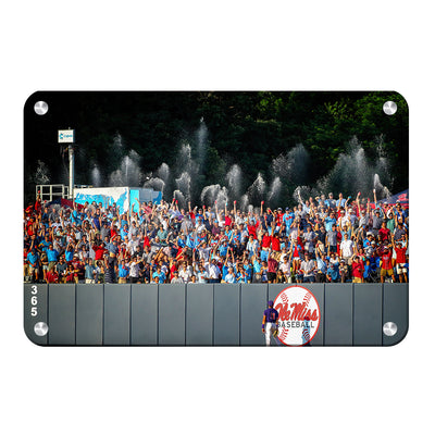Ole Miss Rebels - Ole Miss Baseball Shower - College Wall Art #Metal