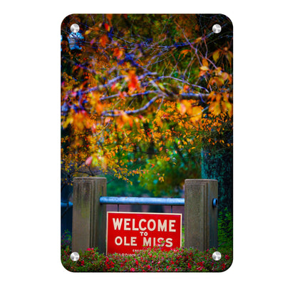 Ole Miss Rebels - Welcome to Ole Miss - College Wall Art #Metal