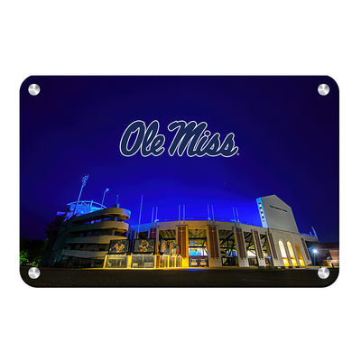Ole Miss Rebels - Vaught Hemingway Stadium 2020 - College Wall Art #Metal