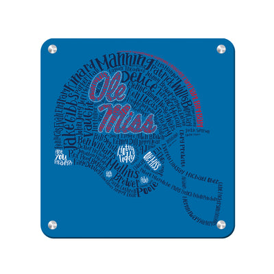 Ole Miss Rebels - Ole Miss Greats - College Wall Art #Metal