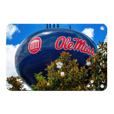 Ole Miss Rebels - Water Tower Magnolia - College Wall Art #Metal