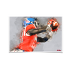 Ole Miss Rebels - Ole Miss Watercolor Catch - College Wall Art #Poster