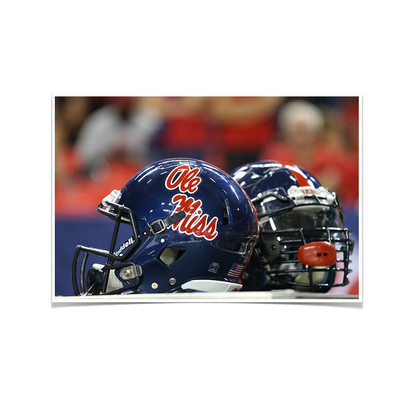 Ole Miss Rebels - Ole Miss Helmet - College Wall Art #Poster