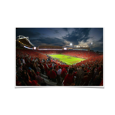 Ole Miss Rebels - Sunset Over Vaught-Hemingway - College Wall Art #Poster