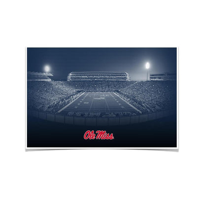 Ole Miss Rebels - Vaught Hemingway Night - College Wall Art #Poster