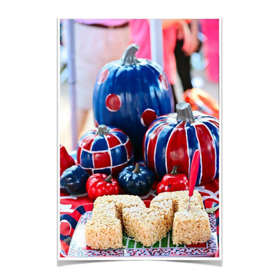 Ole Miss Rebels - Mississippi Pumpkin - College Wall Art #Poster