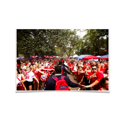 Ole Miss Rebels - The Walk - College Wall Art #Poster
