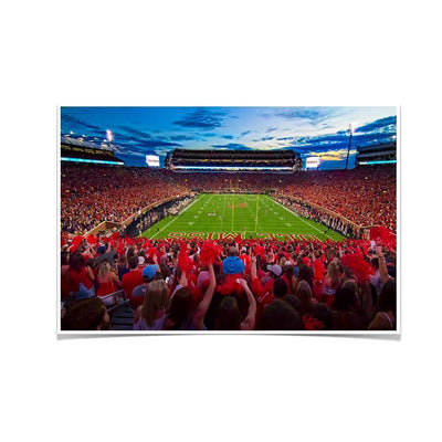 Ole Miss Rebels - Rebel Red Sunset - College Wall Art #Poster