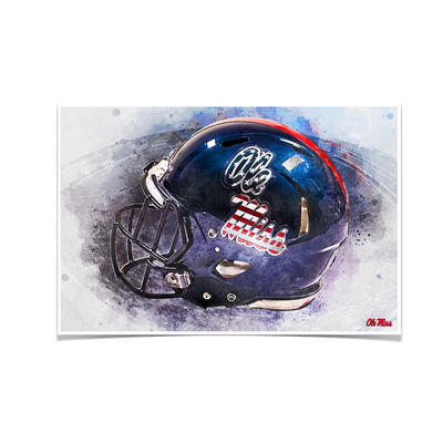 Ole Miss Rebels - Military Appreciation Day Helmet - College Wall Art #Poster
