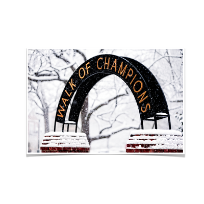Ole Miss Rebels - Snowy Day Walk of Champions - College Wall Art #Poster