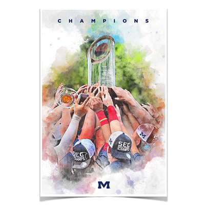 Ole Miss Rebels - SEC Champs Paint - College Wall Art #Poster