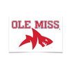 Ole Miss Rebels - Ole Miss Land Shark - College Wall Art #Poster