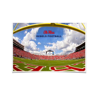 Ole Miss Rebels - End Zone Rebel Football - College Wall Art #Poster