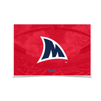 Ole Miss Rebels - Fins Up M - College Wall Art #Poster