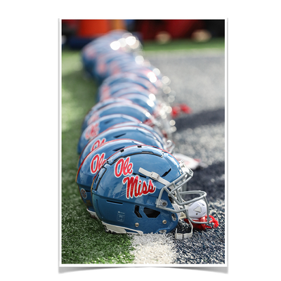 Ole Miss Rebels - Ole Miss Football Helmets - College Wall Art #Poster