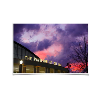 Ole Miss Rebels - The Pavilion at Ole Miss - College Wall Art #Poster