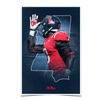Ole Miss Rebels - Landshark State - College Wall Art #Poster