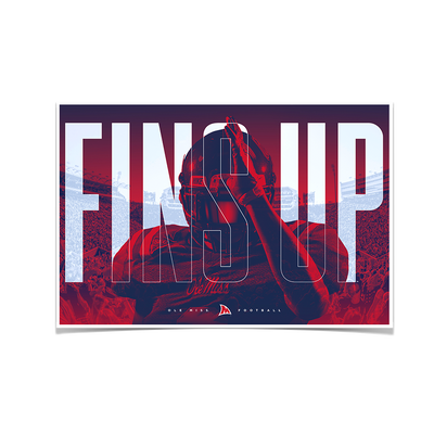 Ole Miss Rebels - Fins Up Ole Miss Football - College Wall Art #Poster