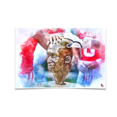Ole Miss Rebels - Never Quit Watercolor - College Wall Art #Poster