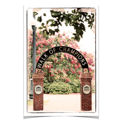 Ole Miss Rebels - Spring Walk of Champions - College Wall Art #Poster