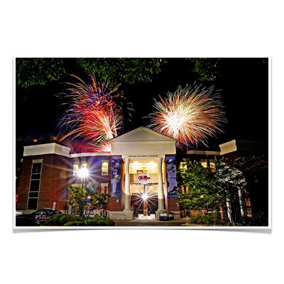 Ole Miss Rebels - Oxford University Stadium Fireworks - College Wall Art #Poster