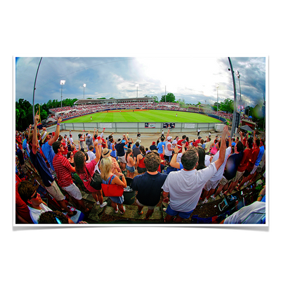 Ole Miss Rebels - Fisheye View of Swayze - College Wall Art #Poster