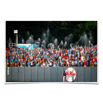 Ole Miss Rebels - Ole Miss Baseball Shower - College Wall Art #Poster