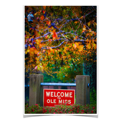 Ole Miss Rebels - Welcome to Ole Miss - College Wall Art #Poster
