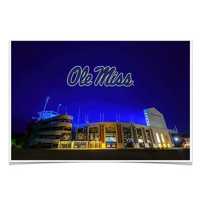 Ole Miss Rebels - Vaught Hemingway Stadium 2020 - College Wall Art #Poster