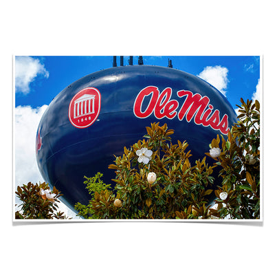 Ole Miss Rebels - Water Tower Magnolia - College Wall Art #Poster