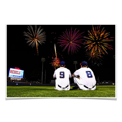 Ole Miss Rebels - Ole Miss Baseball Fireworks -College Wall Art #Poster