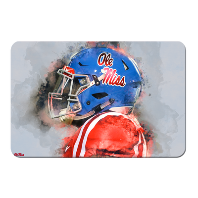 Ole Miss Rebels - Ole Miss Watercolor - College Wall Art #PVC