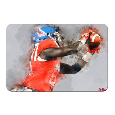 Ole Miss Rebels - Ole Miss Watercolor Catch - College Wall Art #PVC