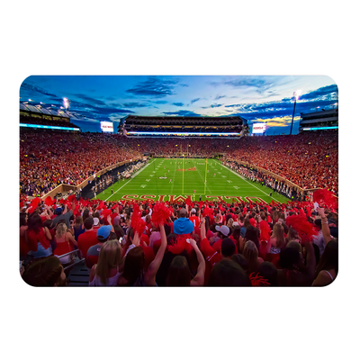 Ole Miss Rebels - Rebel Red Sunset - College Wall Art #PVC
