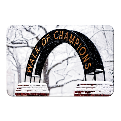 Ole Miss Rebels - Snowy Day Walk of Champions - College Wall Art #PVC