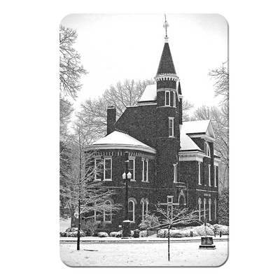 Ole Miss Rebels - Snow Day Ventress Hall - College Wall Art #PVC