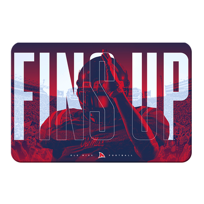 Ole Miss Rebels - Fins Up Ole Miss Football - College Wall Art #PVC