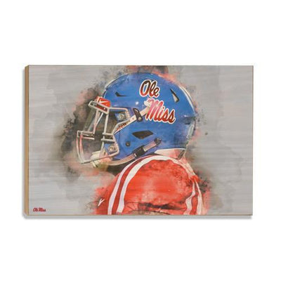 Ole Miss Rebels - Ole Miss Watercolor - College Wall Art #Wood
