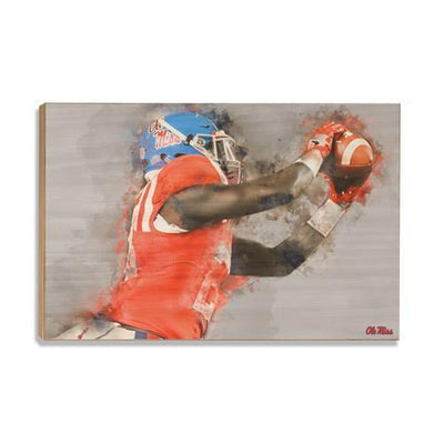 Ole Miss Rebels - Ole Miss Watercolor Catch - College Wall Art #Wood