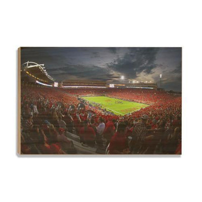 Ole Miss Rebels - Sunset Over Vaught-Hemingway - College Wall Art #Wood